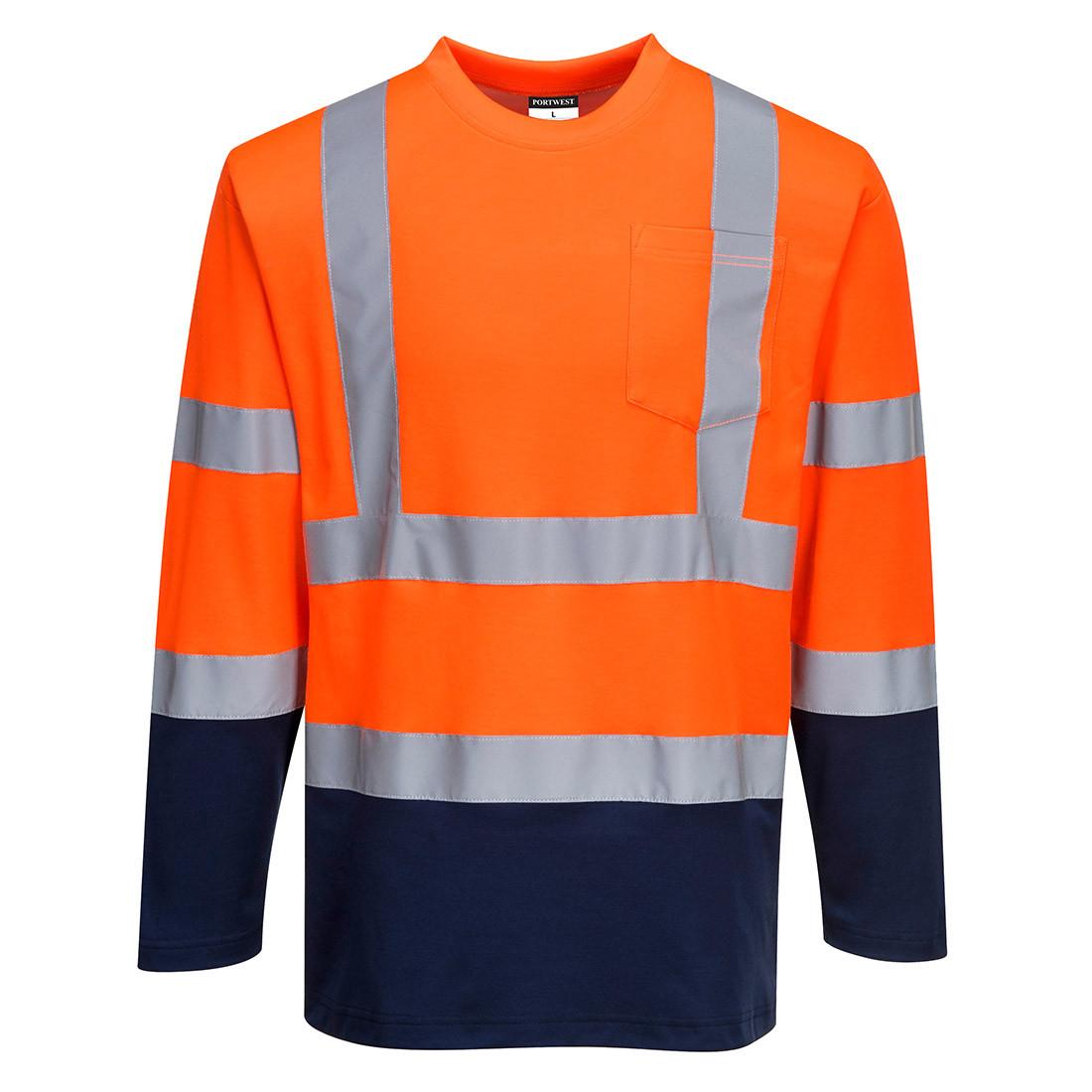 Tricou Doua-Tonuri Cotton Comfort cu Maneci Lungi - Imbracaminte de protectie