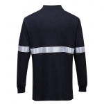 Tricou Polo cu Maneci Lungi Ignifug si Antistatic cu Benzi Reflectorizante - Imbracaminte de protectie